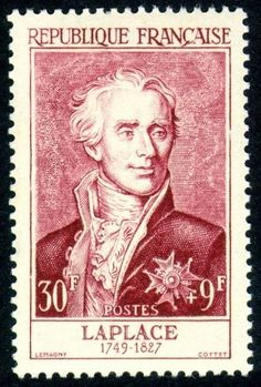 Laplace - French mathematician and astronomer.  Postage stamp from France, 1955