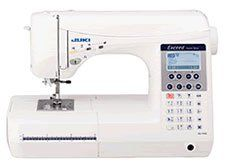 Juki Excite Hzl-g210 Computerized Sewing Machine. Perfect for Large Projects, Easy Pattern Selection & Sensor Buttonholes. Combine and Sew Away, Sashiko - Hand Look Quilting & Perfect Needle and Stitch Placement. Automatic Needle Threading, Variable Speed Control & Bright LED Lights. Comes with Hard Shell Carry Case. Included Accessories: Presser foot - Standard, Overcast Foot, Sensor buttonhole, Manual Buttonhole, Hard Case, 4 Bobbins, Small, Medium and Large Spool Caps, Special…