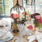 Oklahoma Wedding Inspiration: Bohemian Glamour Brown gazebo and LED candle (lifelike) candle