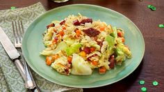 Corned Beef and Cabbage Rice Skillet