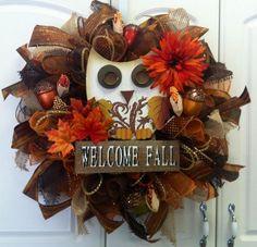 Fall Deco Mesh Wreaths   My Business - Fall Deco Mesh Wreaths