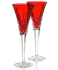 Waterford Stemware, Colour Me Lismore Toasting Flutes, Set of 2 - - *click the link to see it in the aquamarine color***