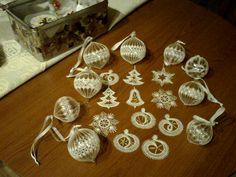 paličkované vianočne ozdoby