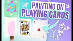 THIS WAS SO FUN! Painting On PLAYING CARDS With Acryla Gouache! Diy Playing Cards, Gouache, Fun, Painting, Painting Art, Paintings, Painted Canvas, Drawings, Hilarious