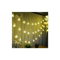 Snowflake Waterproof LED Flash Lights String Decoration Festival... (£4.18) ❤ liked on Polyvore featuring home, home decor, holiday decorations, warm white, festive home decor, holiday window decorations, valentines day home decor and holiday door decorations