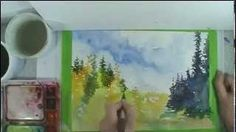 how to do watercolor underpainting - YouTube