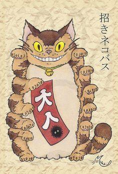 catbus maneki neko! love this!