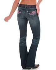 Rock 47 By Wrangler Ladies' Color Wings Jeans - www.fortwestern.com