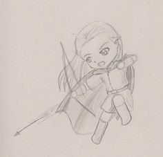 Chibi Legolas Lord of the Rings by SilentDeathRose.deviantart.com on @deviantART