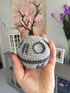 Crochet amigurumi free pattern of Plushie Death Star plush