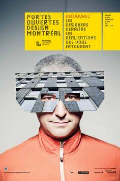 Portes Ouvertes Design Montreal Poster Ads, Advertising Poster, Typography Poster, Poster Prints, Graphic Design Typography, Branding Design, Design Art, Print Design, Motifs Textiles