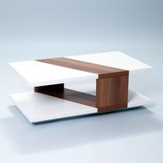 Bianca High-Gloss Walnut Rectangular Coffee Table | Overstock.com Shopping - Great Deals on Matrix Coffee, Sofa & End Tables