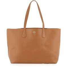 Tory Burch Perry Leather Tote Bag ($395) ❤ liked on Polyvore featuring bags, handbags, tote bags, purses, leather totes, tory burch handbags, purse tote, man bag and leather handbags