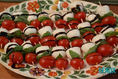 Tomato Mozzarella Skewers Appetizers Beaux & Belles: An Event Planning Blog #Thanksgivingappetizers #eventplanning #entertaining #holidayentertaining #Thanksgivingentertaining #Thanksgivingdecor