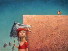 Красная Шапочка -старинные иллюстрации и картины.Ritva Voutila