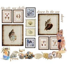 """She sells sea shells down by the seashore"" by penni-13 on Polyvore"