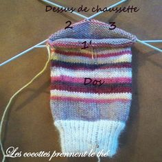 Great tutorial to learn to knit socks (in french)