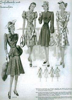 1940's germany smart  dresses