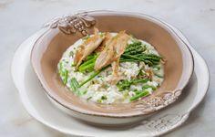 Receita vegetariana: Risotto de espargos verdes com frango salteado