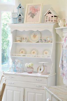 Here's the hutch for my dream kitchen and of course all the pretty things in it too!