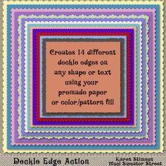 Deckle Edge Action by Karen Stimson