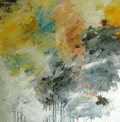 """Oliviero Pagliaroli """"Omaggio a Joan Mitchell """" 2008 olio su tela 180x180 cm"""