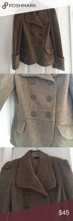 JLO by Jennifer Lopez Tweed Jacket Beautiful brown tweed jacket. Gently worn. Jennifer Lopez Jackets & Coats