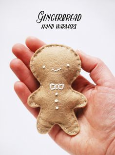 project // gingerbread hand warmers