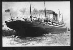 Twin stack ocean going passenger liner fantail