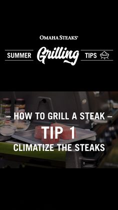 How to grill a perfect steak every time with our 8 steak grilling tips, including climatizing your steak, using the 60/40 rule for flipping your steak, seasoning at the right time, grilling to your perfect doneness, and more. Check out all 8 steak grilling tips and become a grill master this summer. Great Steak, Perfect Steak, Ways To Cook Steak, Omaha Steaks, Steak Tips, Grilling Ideas, Prime Rib Roast, Grill Master, Flipping