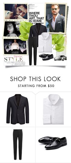 """""""Jamie Dornan"""" by smile2528 ❤ liked on Polyvore featuring Joseph, Dolce&Gabbana, men's fashion and menswear"""