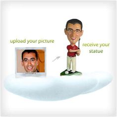 Custom Bobblehead This service takes a photograph you send in and makes a bobblehead that looks a lot like the person you want it to. It's a great gift for anyone that thinks they deserve a bobblehead in their likeness, but aren't famous enough to actually merit one.  VARIES
