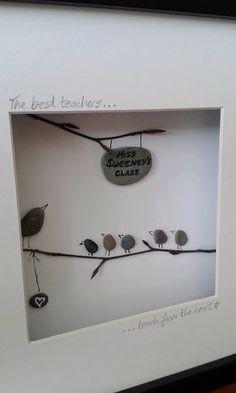 Teacher gift. Unique handmade Irish pebble by BoyneValleyPebbleArt