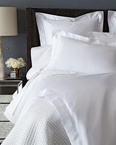 Shop King Sateen Duvet Cover from Ralph Lauren Home at Horchow, where you'll find new lower shipping on hundreds of home furnishings and gifts. Luxury Bed Sheets, Luxury Bedding, Full Duvet Cover, Duvet Covers, All White Bedroom, Master Bedroom, White Bedding, Flat Sheets, Bedroom Decor