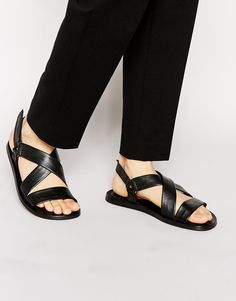 Image 1 of Boss Black Hamprio Leather Sandals
