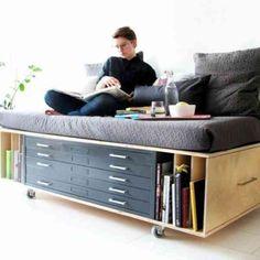 Comment bien choisir un meuble gain de place?Idées en 50 photos!