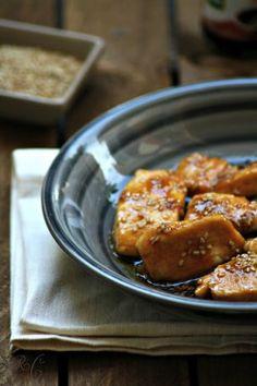 Blog | Ricette | Bocconcini di pollo con salsa di soia, miele e semi di sesamo | Sarchio - prodotti Biologici, alimenti Senza Glutine e Integratori Alimentari