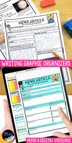 Writing graphic organizers are so helpful in creating strong writers that can use writing strategies effectively in informational writing, narrative writing. They break down writing all types of writings, including narrative writing, persuasive writing, OREO opinion writing, hamburger paragraph writing, RACE reading response, main idea and details, writing a news article, research a topic. Use in writer's workshop, the prewriting stage of the writing process, and for teaching struggling… Procedural Writing, Paragraph Writing, Informational Writing, Narrative Writing, Opinion Writing, Pre Writing, Writing Process, Teaching Writing, Teaching Science