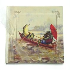 Terra Traditions - Baby's Journey Record Book - Frogs Rowing
