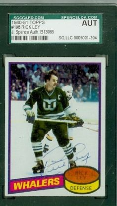 Rick Ley AUTO 1980-81 Topps Whalers SGC/JSA by Regular Topps Issue. $7.50. This card was signed by Rick Ley and authenticated by JSA - a leading 3rd party authenticator