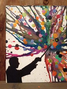 #harrypotter inspired melted crayon art