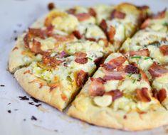 #Irish Pizza w/ #Bacon, Leeks and Potatoes - http://www.lexibites.com