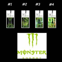 Monster Energy Drink Set of 12 VIP Party Invitation Passes or Party ...    artfire.com