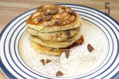 Chocolate Chip Pancakes - In Pictures #food #breakfast