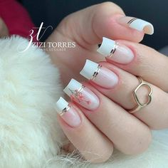 Manicure Nail Designs, Gel Nail Art Designs, Nail Art Designs Videos, Ombre Nail Designs, Nail Manicure, French Acrylic Nails, Simple Acrylic Nails, Best Acrylic Nails, Fancy Nail Art