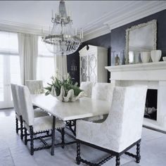 Every home should have a chandelier!#coastalglam #coastaldecor