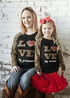 The Hair Bow Company - Valentine's Day Love My Mama Leopard Print Raglan Shirt for Girls, $7.99 (http://www.thehairbowcompany.com/valentines-day-love-my-mama-leopard-print-raglan-shirt-for-girls/)