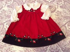 Samara Dress and matching onsie Size 2T $5  Perfect for Christmas photos with Santa