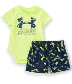 4070157ed01dc Under Armour Baby Boys Newborn-12 Months Knockout Multi Big Logo Bodysuit &  Printed Shorts Set