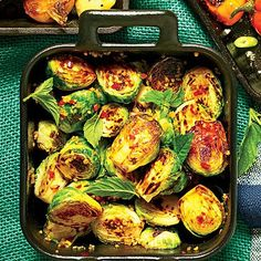 Cast Iron Blistered Brussels Sprout
